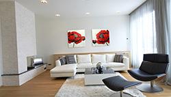 Modern Interieur Schilderij : Moderne schilderijen woonkamer