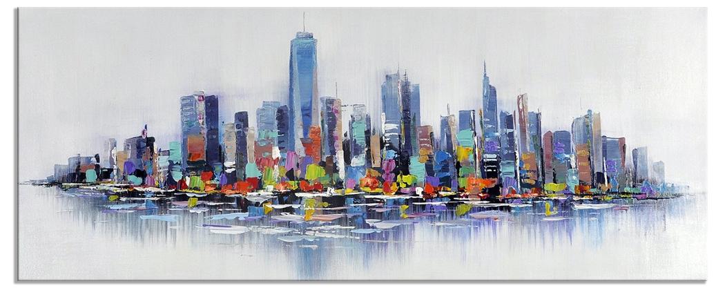 Skyline steden schilderijen new york sity 60x150 cm for Skyline schilderij