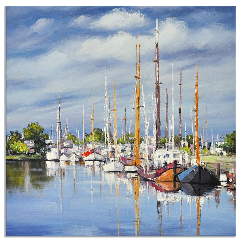Landschap schilderijen good day for 100x100 cm for Schilderij zeezicht
