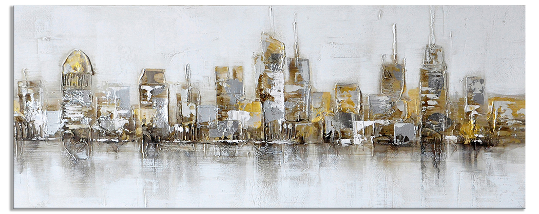 Skyline steden schilderijen new york in the evening 60 for Skyline schilderij