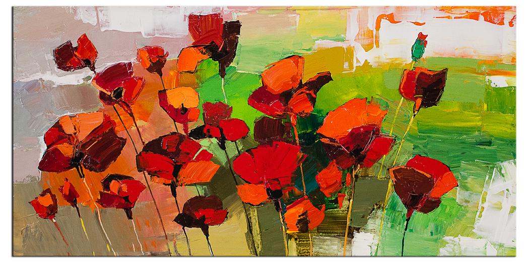 Bloemen & Bomen schilderijen: Frozen in time II 120 x 60 cm