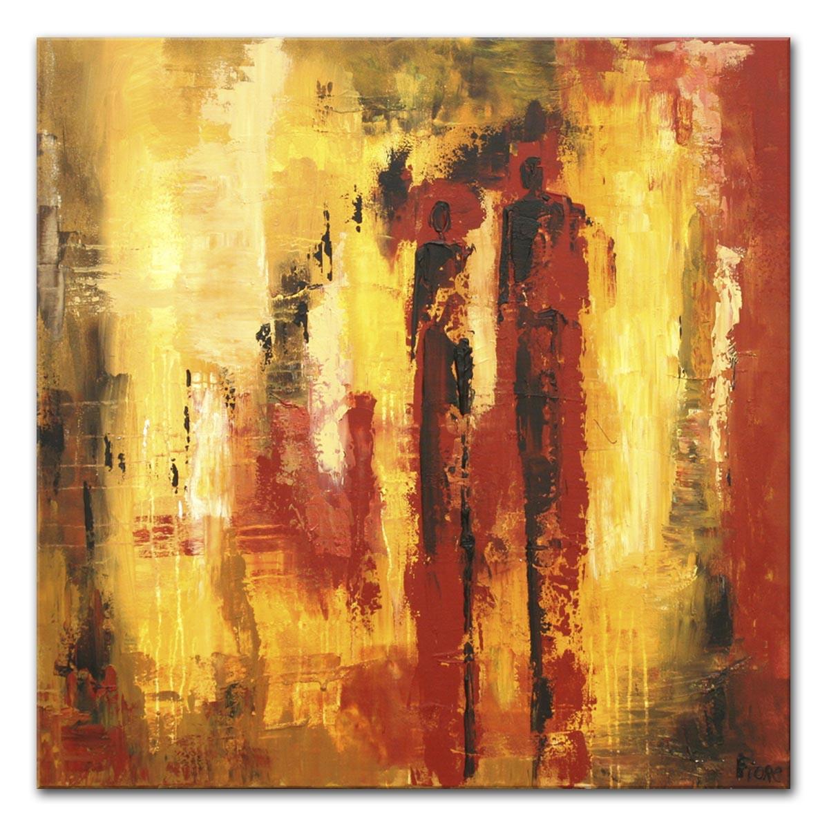 Extreem Abstracte schilderijen : Jupiter 90x90 cm #XN58