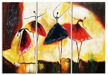 Friends for life 3x50x90 cm