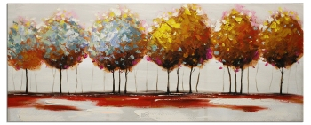 The spring forest   60x150cm