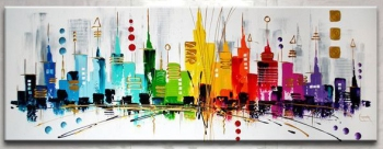 The city Love  150x60cm